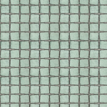 Tespi Square – Teal\Silver